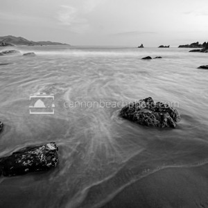Black and White Evening Waves