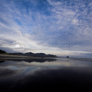 Cloudy Skies Above Cannon Beach