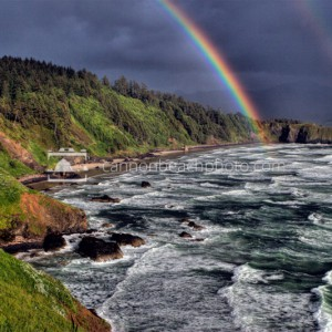 Double Rainbow from Ecola Point