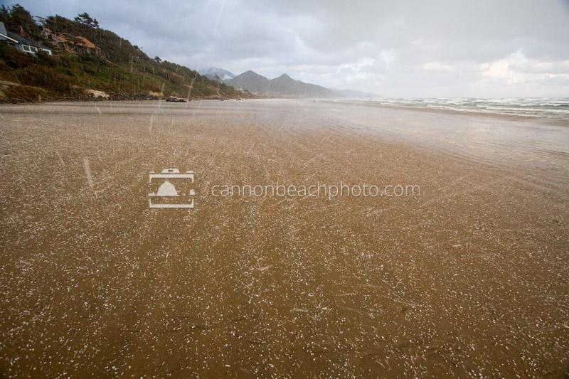 Hail on the Beach