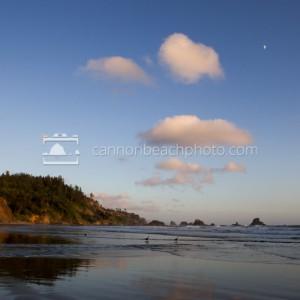 Moon Up at Indian Beach