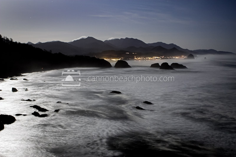Night at Ecola State Park
