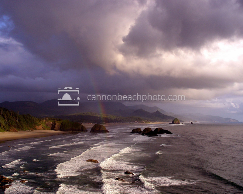 Rainbow from Ecola Point