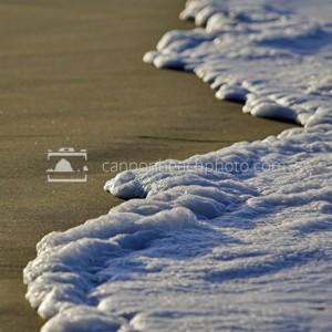 Sunlit Foam Wave