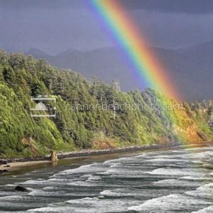 Vibrant Rainbow on the Oregon Coast