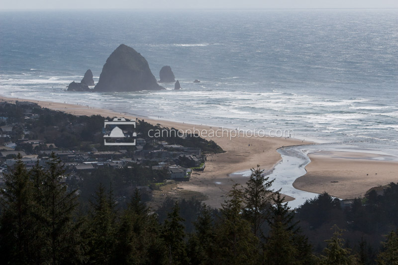 View Down on Cannon Beach