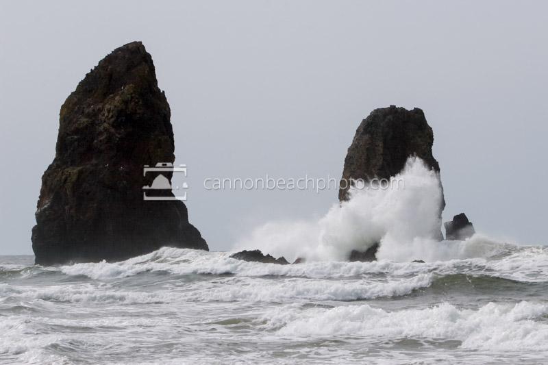 Wave Crash at Needles - Horizontal
