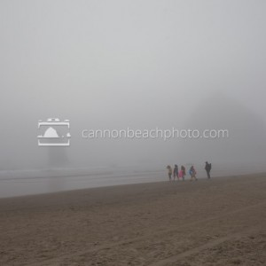 Fog Walk at Haystack Rock