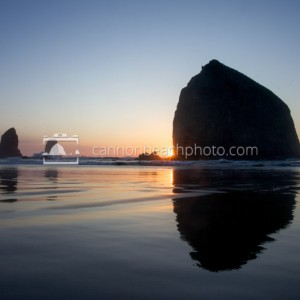 Joint Sunset – Haystack Rock Reflected