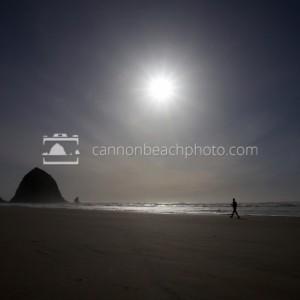 Lone Man Strolling the Beach