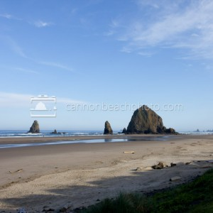 Mid-Morning View of Haystack Rock