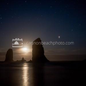 Moon and Stars at the Needles