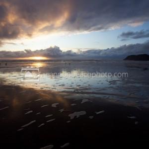 Reflective Winter Sunset, Murre Rocks