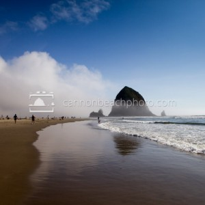 Clouds Rolling Over Haystack Rock