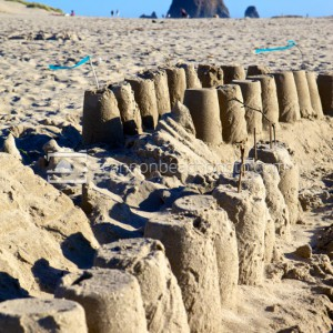 Beach Sandcastle Vertical Image
