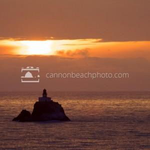 Tillamook Rock Lighthouse at Sunset