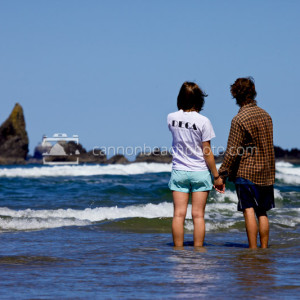 Couple Holding Hands on the Ocean's Edge