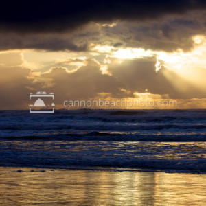 Sun Break thru the Golden Clouds