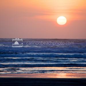 Sun Disc Over the Pacific Ocean - Horizontal