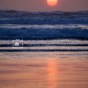 Sun Disc Over the Pacific Ocean – Vertical