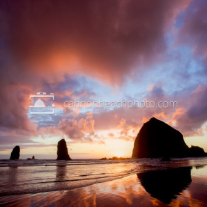 Sunset Pictures of Cannon Beach, Oregon