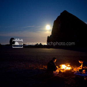 Beach Bonfire with Haystack Rock
