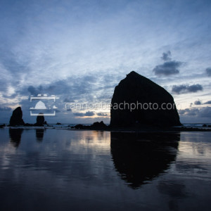 Blue Reflections of Haystack Rock