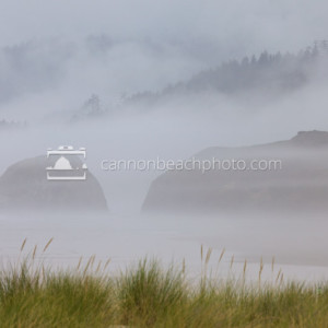 Fog in the Seastacks, Cannon Beach, Oregon Coast
