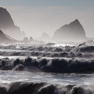 Waves Crash Below Tillamook Head