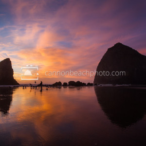 Best Oregon Coast Sunset at Haystack Rock