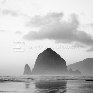 Black and White Haystack in Vertical