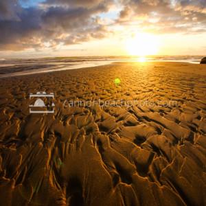 Golden Sand Texture, Creek Ripples at Sundown