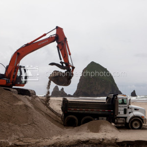 Haystack Rock Construction