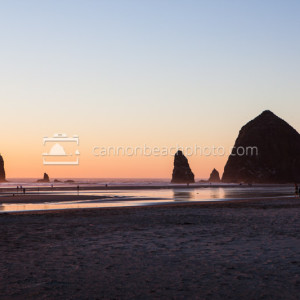 Haystack Rock Quiet Golden Evening