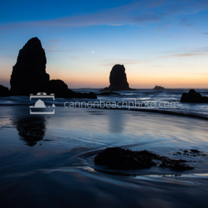 Oregon Coast Seascape, Beautiful Evening Scene