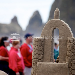 Sandcastle Day Closeup in Cannon Beach, Oregon