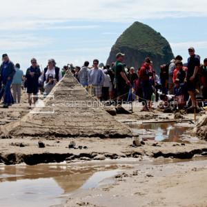 Sandcastle Day Pyramid in Cannon Beach, Oregon