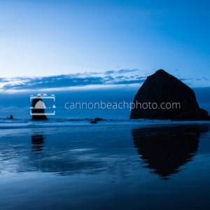 Simple Blue Scene, Haystack Rock