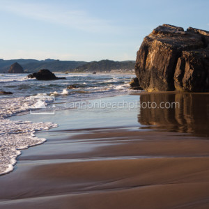 South End of Cannon Beach on a Sunny Day