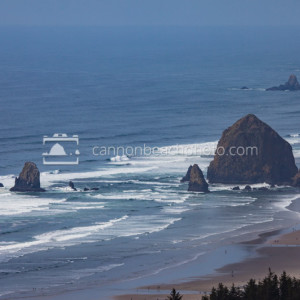 Summer Zoom on Haystack Rock