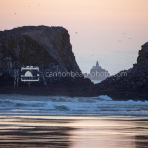 Tillamook Lighthouse Thru Murre Rocks