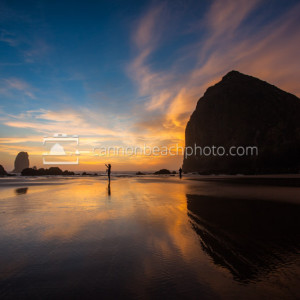 Vibrant Pacific Northwest Beach Sunset