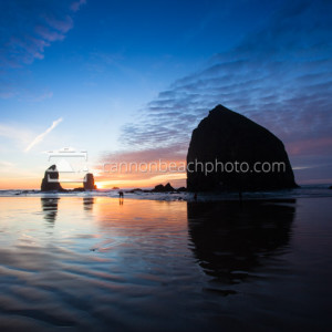 Oregon Coast Sunset at Haystack Rock