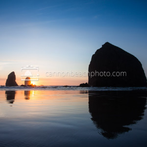 Simple Haystack Rock Sunset