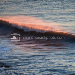 Wave Curl at Sunset