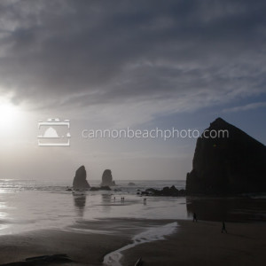 Winter Skies Over Haystack Rock