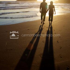 Romantic Beach Couple Hand in Hand