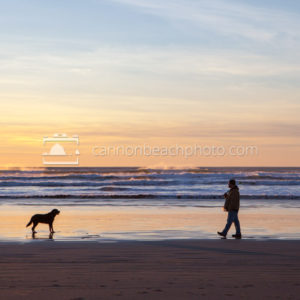 Playing Fetch in Cannon Beach