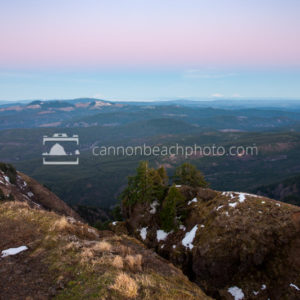 Peak of Saddle Mountain Evening Light