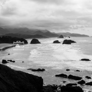 Ecola Point View in Black and White